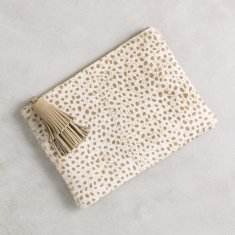 Masai mara clutch in Almond cheetah