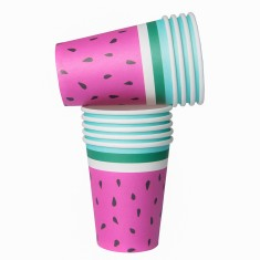 Watermelon paper cups (2 packs)