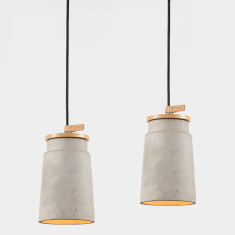 Cylinder Concrete Pendant Light