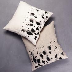 Painterly Splotch Border Cushion with Insert