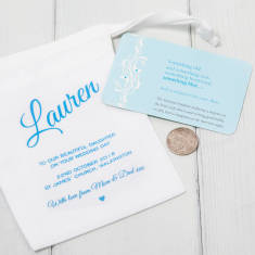 Lucky Sixpence For Bride With Personalised Gift Bag