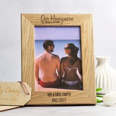 Personalised Honeymoon Photo Frame