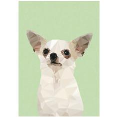 Geometric chihuahua art print