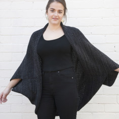 Oversized merino wool shrug