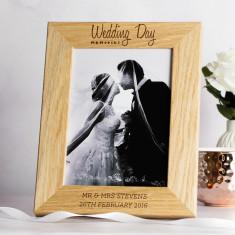 Personalised Wedding Memories Photo Frame