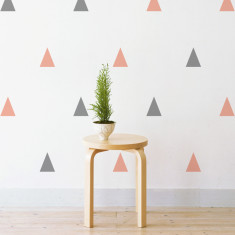 Pastel triangles wall stickers