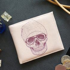 Cool Skull Vegan Leather Men's Wallet
