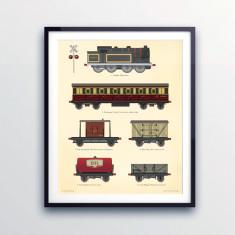 Train wall print