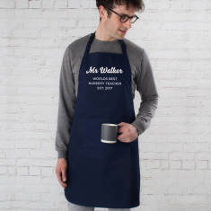 Personalised World's Best Teacher Apron