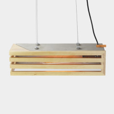 Timber Concrete Rectangular Pendant light