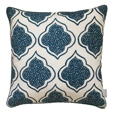 Navy blue Lanterns linen cushion (European size)