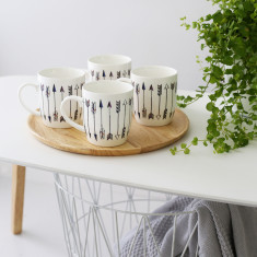 Be the arrow mugs (set of 4)