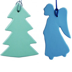 Angel and Christmas tree decorations from Liebe