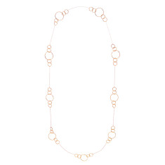 Circle station necklace in rose gold plate