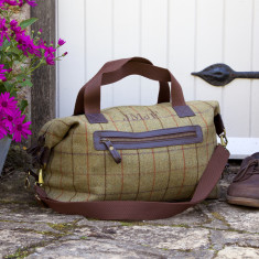 Personalised Tweed Weekend Bag