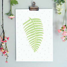 Fern Illustration Botanical Fine Art Nursery Print