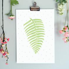 Fern Illustration Botanical Fine Art Nursery Print