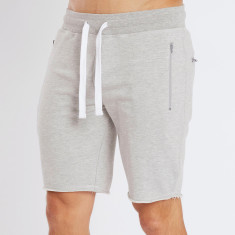 Raw edge track shorts