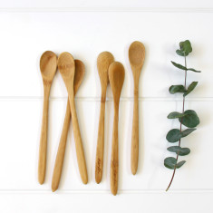 Bamboo petite spoons (set of 6)