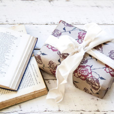 Vintage Roses wrapping paper pack (5 sheets)