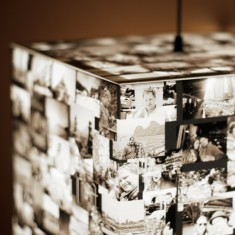 Personalised photo light cube