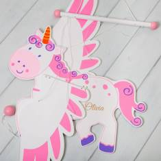 Personalised Flying Unicorn Mobile