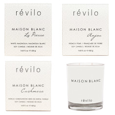 Deluxe anjou, cashmere & la pierre scented candles (set of 3)