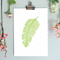 Banana Leaf Illustration Botanical Fine Art Nursery Print