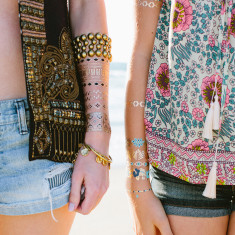 Boho pop temporary tattoos
