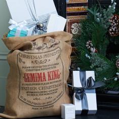Personalised Burlington hessian Christmas sack