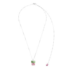 Tourmaline parcel necklace in silver