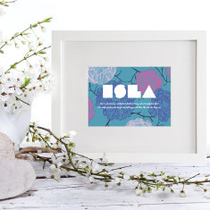 Personalised name and personality trait print