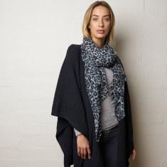 Animal Luxe Wool Silk Scarf