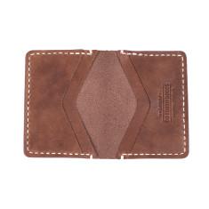 Single Leather Bi-Fold Wallet