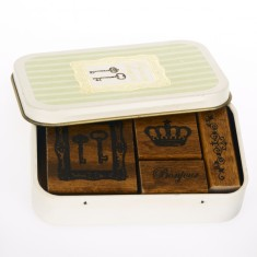 Vintage Stamp Set - Petit Musee - Crown
