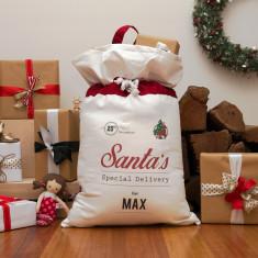 Santa's special delivery personalised Santa sack