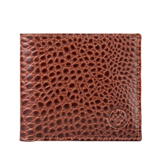 The Ticciano Croco Luxury Italian Leather Wallet with Coin Pouch