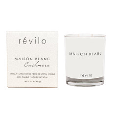 Deluxe cashmere vanilla & sandalwood scented candle