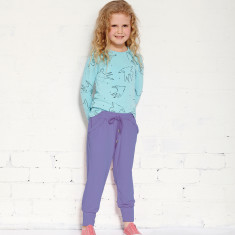 Round off jogger pants in light grape