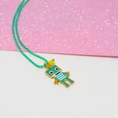Emerald green Robot necklace