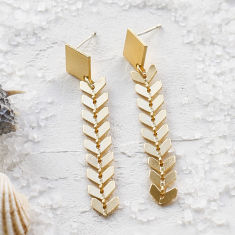 Andromeda earrings in gold
