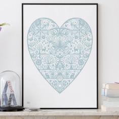 Bold & Noble my heart print