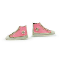 A small world stud earrings in pink converse