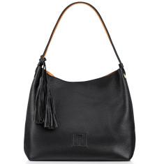 Sofala Reversible Hobo - Black Full Grain European Leather