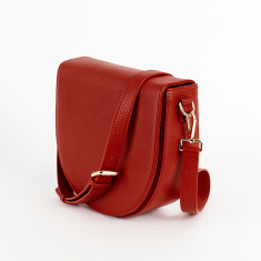 Ava Crossbody Bag with Built-in Phone Charger - Red Leather