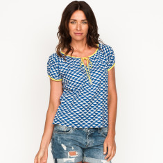 Suzie Jacquard Blue & White Top