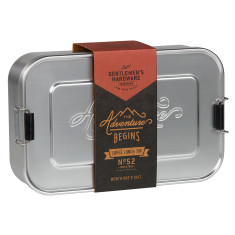 Large gents hardware metal lunch tin