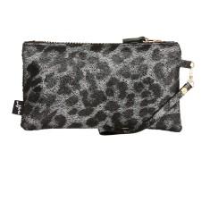 Garcia clutch silver leopardo