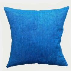 Navy blue linen cushion
