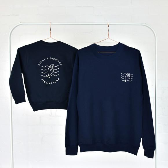 90cfc8ef Dad And Me Adventure Club Navy Sweatshirt Jumper Set